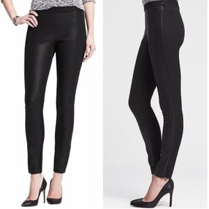 Banana Republic Faux Leather Panel Sloan Pants